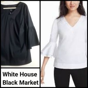 🆕️WHBM Plus Size V-neck Bell Sleeve Blouse!